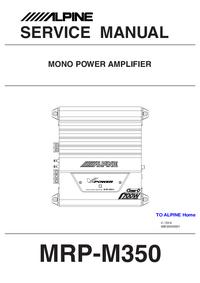 Руководство по техническому обслуживанию Alpine MRP-M350