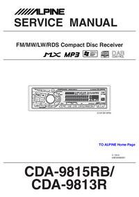Servicehandboek Alpine CDA-9813R