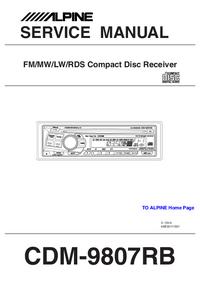 Manual de serviço Alpine CDM-9807RB