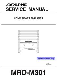 Manual de serviço Alpine MRD-M301