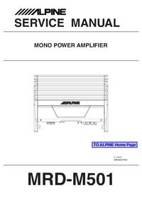 Instrukcja serwisowa Alpine MRD-M501