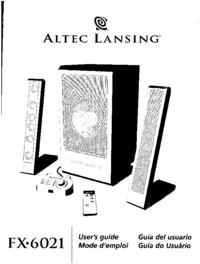 Bedienungsanleitung Altec FX-6021