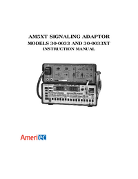 User Manual Ameritec AM5XT 30-0033