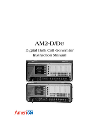 User Manual Ameritec AM2-D