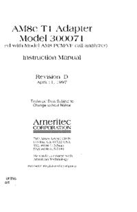 User Manual Ameritec 300071