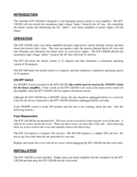 Serwis i User Manual Ameritron ICP-120