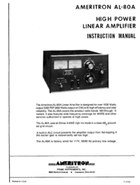 Service and User Manual Ameritron AL-80A