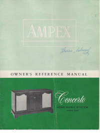 Manuale d'uso Ampex Concerto Series 5200