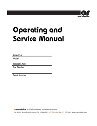 Service and User Manual AmplifierResearch 20T4G18