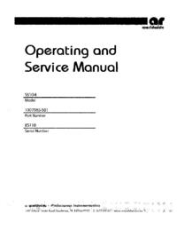 Serviço e Manual do Usuário AmplifierResearch 5S1G4