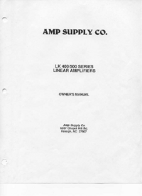 Service and User Manual Ampsuply LK 400