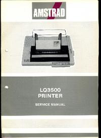 Service Manual Amstrad LQ3500