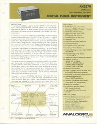 Datasheet Analogic AN2570