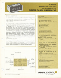 Datasheet Analogic AN2575