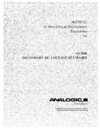 Service-en gebruikershandleiding Analogic AN3100