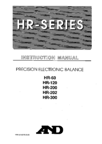 Manual del usuario And HR-120