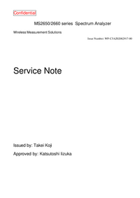 Service Manual Anritsu MS2650 Series