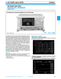 Fiche technique Anritsu MS4662A