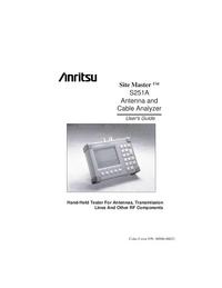 Manuale d'uso Anritsu Site Master S251A