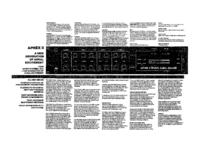 Руководство по техническому обслуживанию Aphex Aphex II