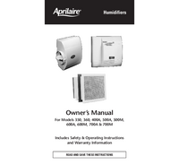 User Manual Aprilaire 600M