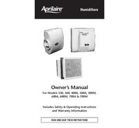 User Manual Aprilaire 600A
