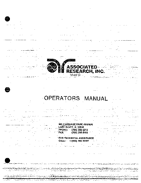Manuale d'uso AssociatedResearch 4048A