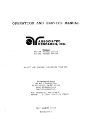 Service and User Manual AssociatedResearch 4050AX