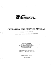 Service and User Manual AssociatedResearch 5400DT