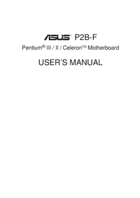 User Manual Asus P2B-F