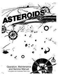 Servicio y Manual del usuario Atari Asteroids