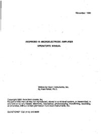 Manuale d'uso Axon Axoprobe 1A