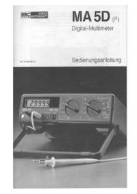 Serwis i User Manual BBCGoerzMetrawatt MA 5D