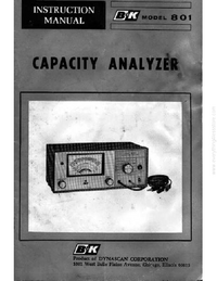 Service and User Manual BK 801