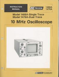 User Manual BKPrecision 1476A
