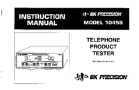 User Manual BKPrecision 1045B