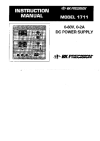 User Manual BKPrecision 1711