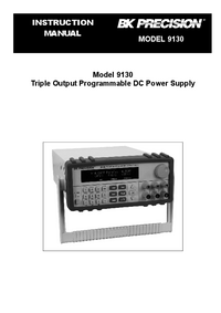 Manuale d'uso BKPrecision 9130