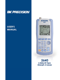 User Manual BKPrecision 2640