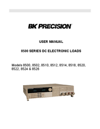 Manual do Usuário BKPrecision 8500