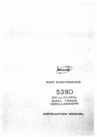 Servicio y Manual del usuario BWD 539D