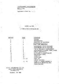 Servicio y Manual del usuario BWD 509B