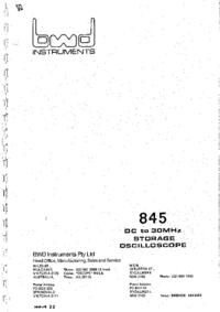 Serwis i User Manual BWD 845