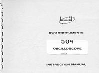 Serviço e Manual do Usuário BWD 504