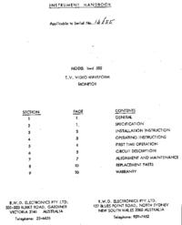 Servizio e manuale utente BWD 582