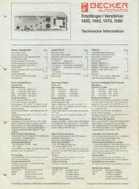 Servicehandboek Becker 1470