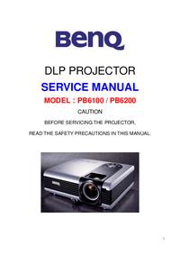 Руководство по техническому обслуживанию BenQ PB6100