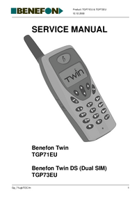 Manuale di servizio Benefon Benefon Twin TGP71EU