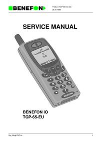 Manual de serviço Benefon BENEFON iO TGP-65-EU