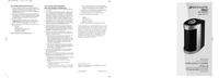 User Manual Bionaire BAP1412